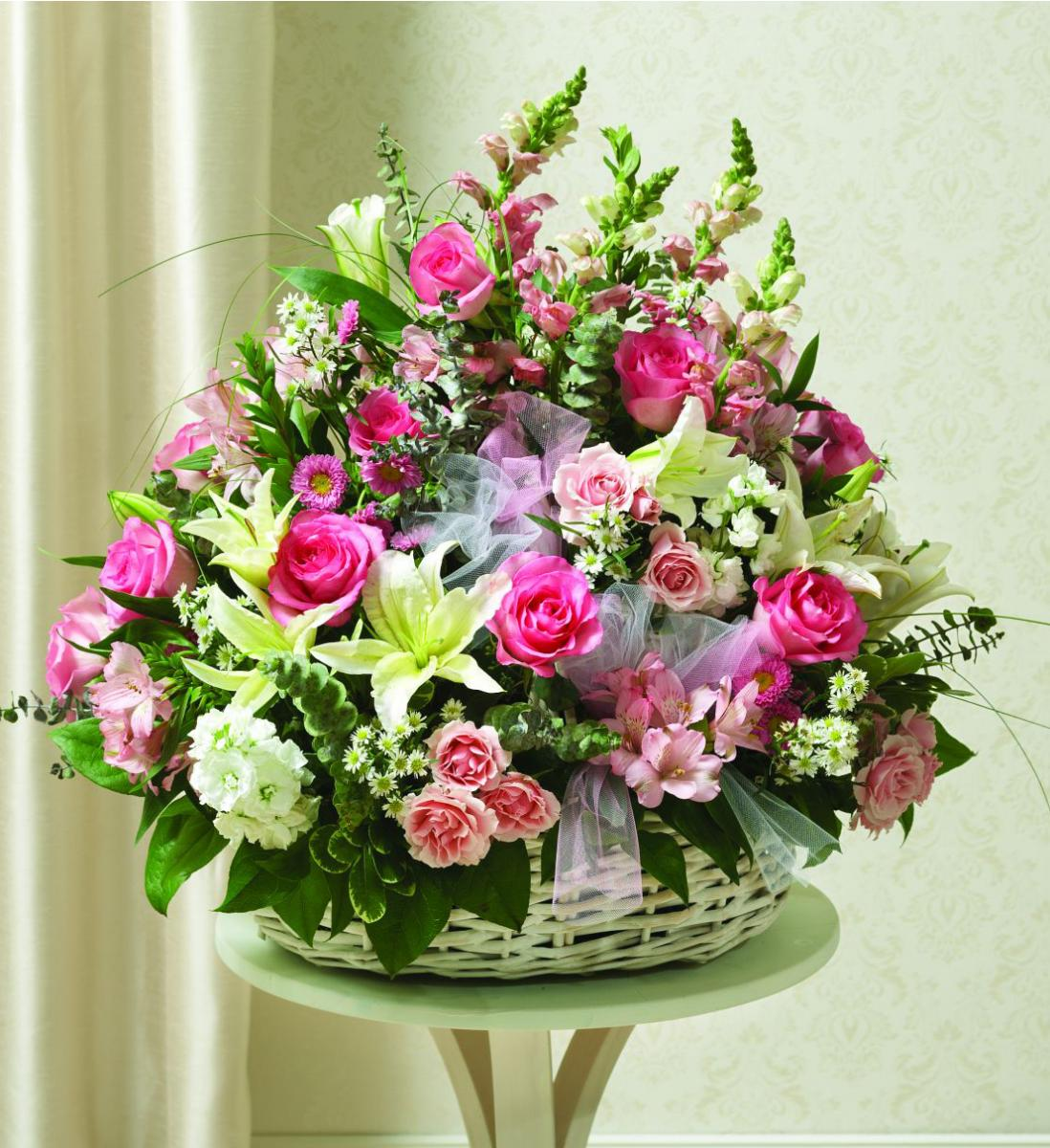 Lovely Basket Divine Flowers From The Heart